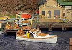 Fred Dole O Lobster Boat harbor scene d